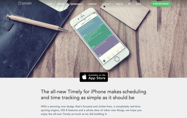 Timely for iPhone – Scheduling and Time Tracking  Simultaneously