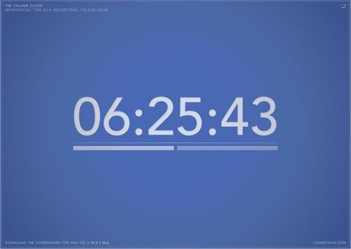 TheColourClock  ——  数字时钟屏幕保护(支持多个操作系统,包括手机哦)
